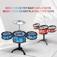 6Pcs Kids Toys Drum Set Musical Instrument W/ Drumsticks For Infant Xmas Gifts