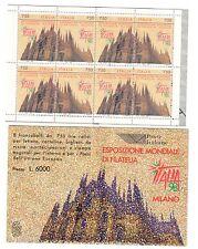 ITALIA  LIBRETTO NUOVO 1996 Esposizione mondiale filatelia Milano  6000 lire 037