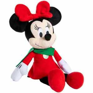 "DISNEY MINNIE MOUSE CHRISTMAS HOLIDAY SNOWFLAKE PLUSH STUFFIE 12.5"" - EUC"