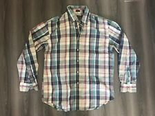 Rare Vintage Eddie Bauer Americana Mills Marin Poplin Woven Knit Shirt Large