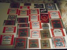 New listing Lot Of (50) Diff Usa Anheuser Busch Beer Labels -Mint