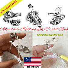 Ring Ring Sewing Accessories Knitting Loop Crochet Ring Peacock Fish Phoenix