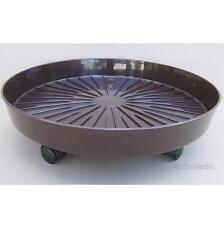 Soucoupe 42 cm sur roulettes Marchioro®, coloris marron chocolat