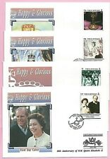TURKS & CAICOS 1993 FDC's -  40th ANNIVERSARY OF THE CORONATION (SG 1196/9) MNH