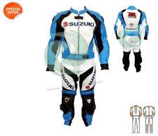 Blousons combinaisons bleus pour motocyclette