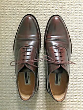 Florsheim Imperial REYNOLD Burnished Mahogany Brown Cap Toe Oxford Shoes UK 7 EE