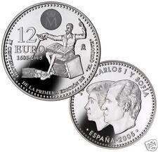 manueduc  12 EUROS  ESPAÑA 2005 DON QUIJOTE  IV CENTENARIO  18,2 Gr  PLATA