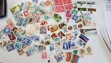 CANADA: Bel lotto di centinaia di francobolli SOTTOFACCIALE