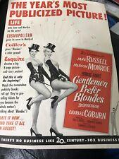 Original Exhibitors Magazine Ad Gentlemen Prefer Blondes Marilyn Monroe Russell