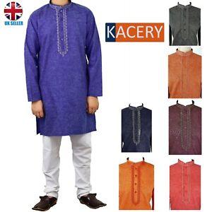 Men's Indian Cotton Short Kurta  Pajama traditional Outfit  Sherwani AR250