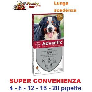 Advantix Bayer 40-60kg antiparassitario cane oltre 40kg  4-8-12-16-20 pipette