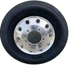 11R 16PR Drive Truck Tires + 24.5 x 8.25 Aluminum Wheels Rims Alcoa Style X2