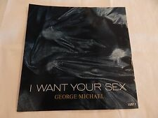 """George Michael """"I Want Your Sex"""" PICTURE SLEEVE! NEW! MINT!"""