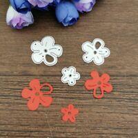 3Pcs Cherry Blossom Metal Cutting Die Scrapbooking Embossing Dies Stencil Crafts