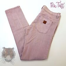 ROXY size 5 Girls/Womans Dirty Pink Denim Branded Straight Leg Vintage Jeans