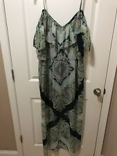Floral Paisley Sun Dress 2XL, Cold Shoulder, Maxi Dress NEW!