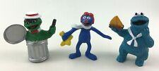Sesame Street PVC Grover Cookie Monster Oscar Vintage 90s Applause Muppets A6