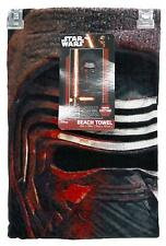 "Star Wars The Force Awakens Kylo Ren Heavy Beach Towel Black/Red 34""x64"" NWT"