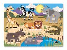Melissa & Doug 19054 Peg Puzzle in legno Safari
