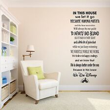 In This House We Do Disney Famous Quote Wall Decal Living Room Vinyl Sticker