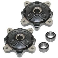 FRONT LEFT RIGHT WHEEL HUBS and BALL BEARINGS FIT Polaris RANGER 800 6X6 12-2017