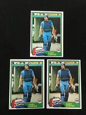 3 GARY CARTER TOPPS 1981 VINTAGE MONTREAL EXPOS BASEBALL CARDS