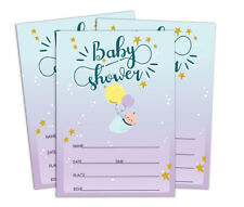 Darling Souvenir Baby Shower Invitation Card 28 Pcs Fill or Write-fxQ