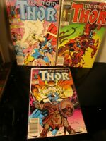 The Mighty Thor MARVEL LOT 339 340 342 ~BAGGED BOARDED~