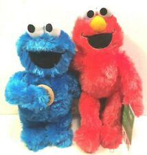 "Sesame Street Elmo & Cookies Monster 9-11"" Stuffed Animal Plush Toy Set of 2"