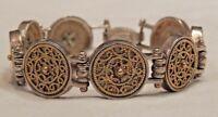Vintage Anatoli Sterling Silver Two-Toned Ornate Filigree Bracelet