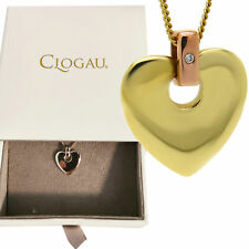 Clogau Welsh 9ct Yellow Rose Gold Cariad Heart Pendant rrp £520