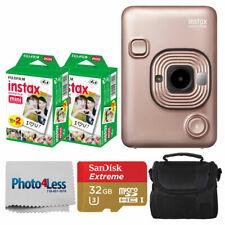 Fujifilm Instax Mini Câmera instantânea híbrido liplay (Blush Gold) + Pacote de topo ACC.