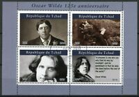 Chad Famous People Stamps 2019 CTO Oscar Wilde Writers 4v M/S