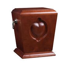 Beau Bois Solide Caske , Enterrement Urne de Cendres pour Adulte Crémation