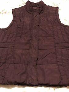 M&Co  Ladies  BODY WARMER / GILET Burgundy - Pockets - Zip Up - Padded  Size 20