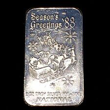 CHRISTMAS VINTAGE 1oz SILVER 999 BAR GIFT FOR COLLECTOR SANTA  RARE  n59