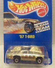 Vintage Hot Wheels '57 T-Bird Gleam Team Mattel #190 Gold Chrome 1991 Die-Cast