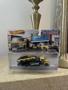 Hot Wheels Legends Team Transport Corvette - Walmart Exclusive ✅Ships NOW!!! 🚀
