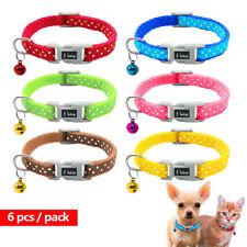 6/12/24 un. Lunares Mascota Cachorro Gato Gatito Collar de perro pequeño con campana Chihuahua