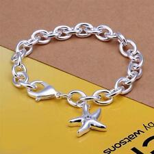 Damen Armband mit Seestern Anhänger Zirkonia 925 Sterling Silber plattiert