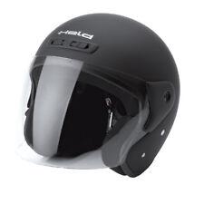 HELD Heros Jethelm Touren Helm schwarz matt Gr. XS = 53/54 Rollerhelm mit Visier