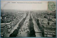 16. Paris France Postcard -Panorma de L'Avenue den Champs-Elysees, pre 1910