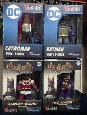 Vinimates Arkham Asylum Batman,Catwoman, Joker Harley Quinn Diamond Select DC.