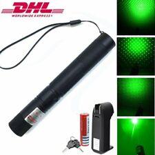 10miles Laserpointer Grün Präsentation 1mw 532NM 303 Laserlicht +Akku+Aufsatz DE