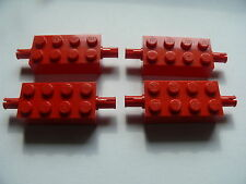 Lego 4 essieux rouges set 10030 6097 6818 5955 / 4 red brick modified