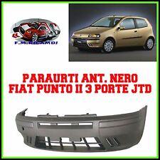 PARAURTI ANTERIORE NERO FIAT PUNTO (188) 3 PORTE DAL 1999 AL 2003