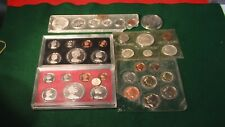 Group Lot Of 6 United Kingdom Great Britain Coin Sets Proof & Mint