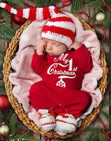 Baby's 1st Christmas red rompasuit bodysuit baby grow.
