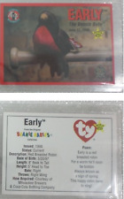 Early Robin Brewers Ty Beanie Baby Sports Commemorative Card June 12 1999 Sga