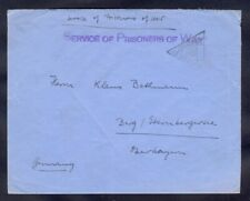 10571 Great Britain(Germany),WWII,War prisoner cover with 2 censorship cancels